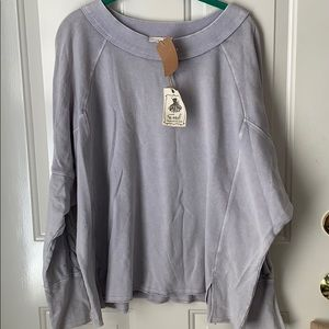 Easel Oversized Sweater Detail Top ~ Size Medium